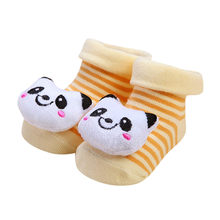 2019 NEW hot Cartoon Newborn Baby Girls Boys Anti-Slip Socks Slipper Shoes Boots Socks(China)