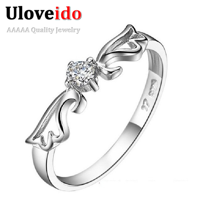 Angel Wedding Costume Jewelry Rings For Women Gift Silver Color Anillos Mujer Engagement Ring Female Bijoux Gifts J001 In From