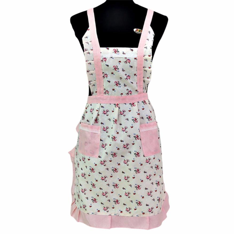 New Women Lady Restaurant Home Kitchen For Pocket Cooking Cotton Apron Bib Cute Eco-Friendly Easy To Clean 2018 hot C0308