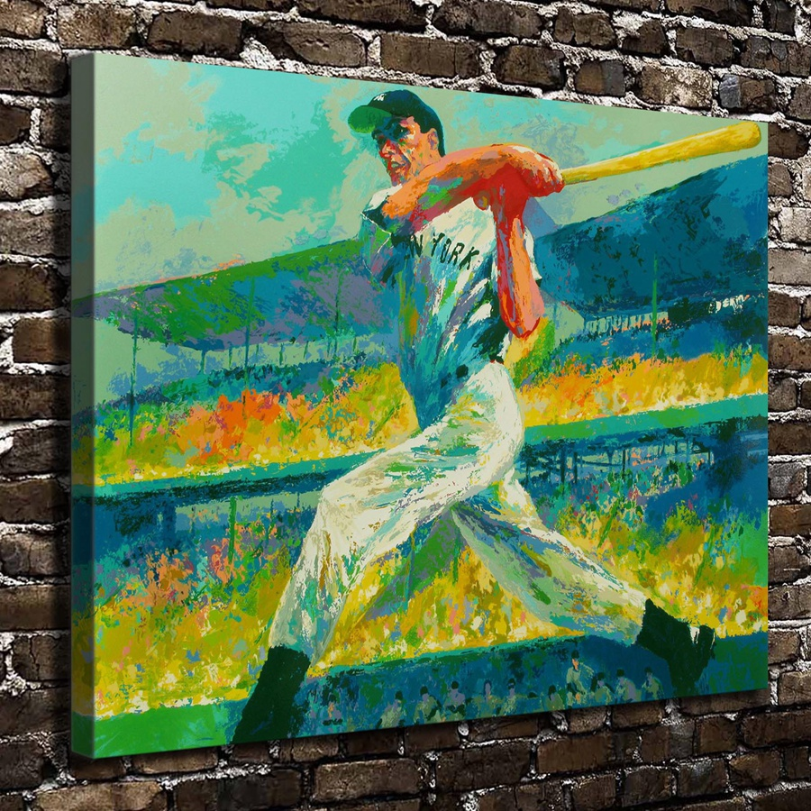 A1848 Leroy Neiman Colorful Abstract Baseball Players Hd