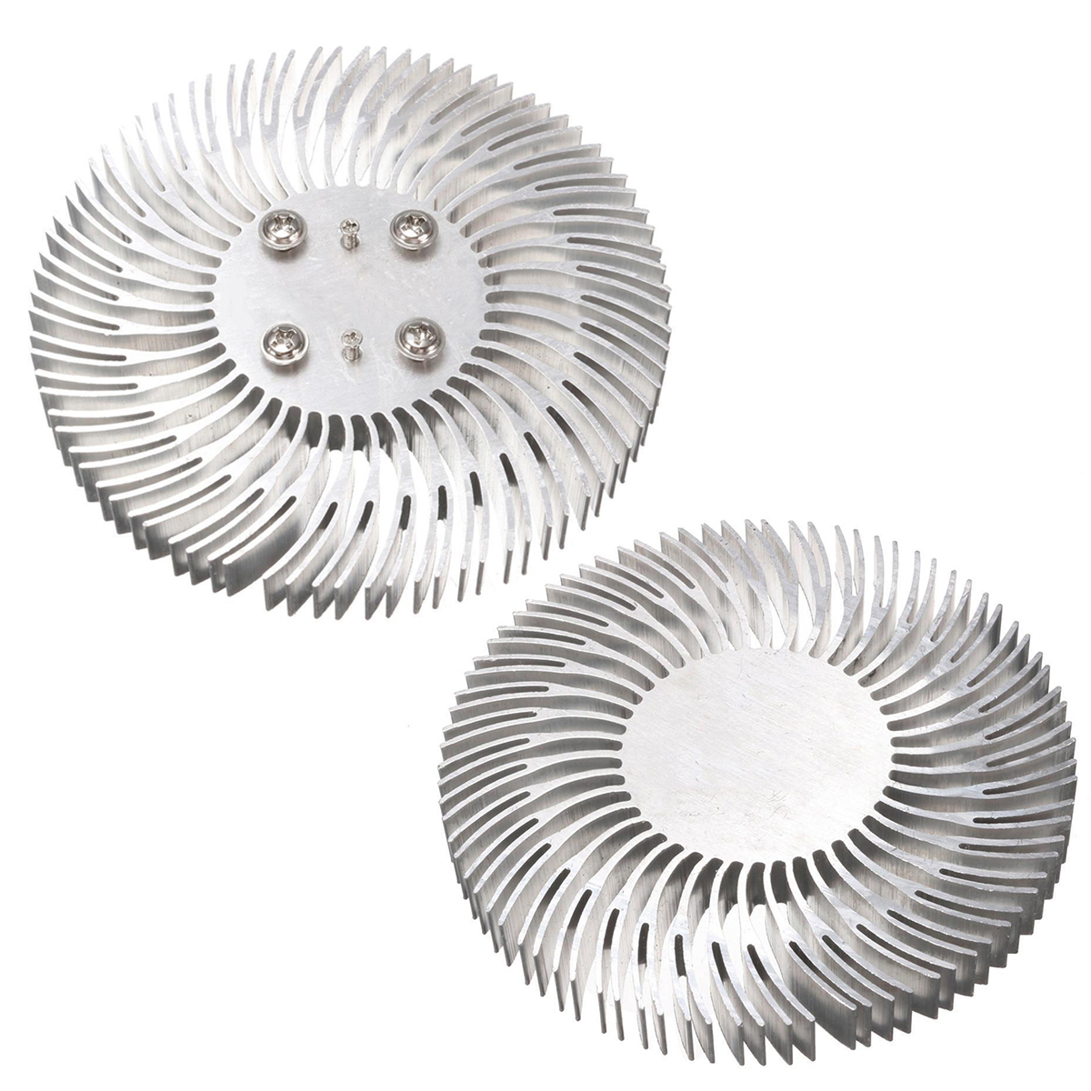 1pc Round Spiral Aluminum Heat Sink Radiator 90*10mm With 6pcs Screws For 10W High Power LED Lamp Heat Dissipation Mayitr flower ridge north bridge heat sink aluminum zero total compatible with fan noise