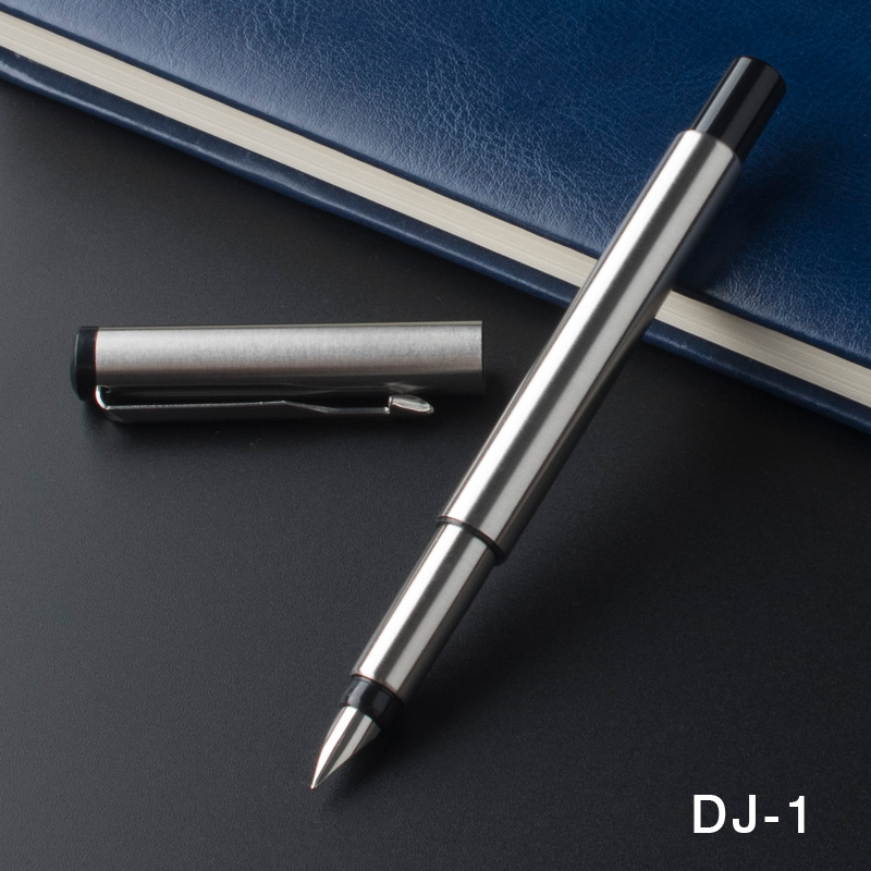 New Stainless Steel Ballpoint Metal Silvery Twist Ball Point Pen Black Ink Fa CL