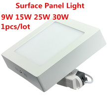 9W/15W/25W/30W Square Led Panel Light Surface Mounted Led ceiling Downlight AC85-265V + LED Driver Free shipping