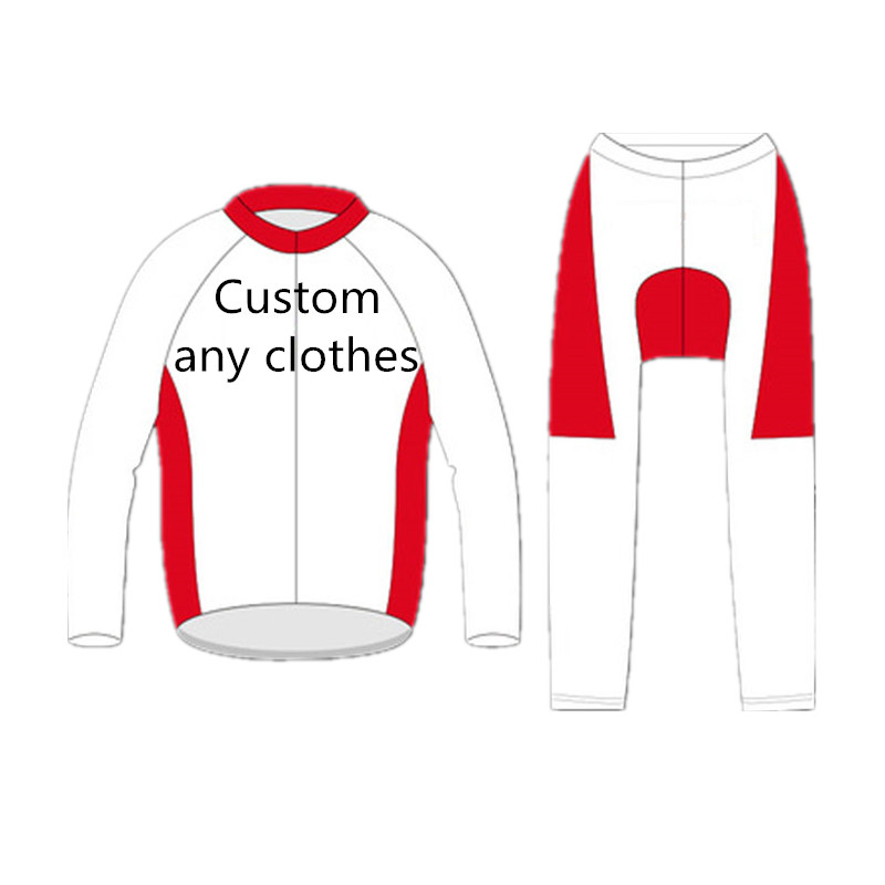 Custom Design Winter Cycling Long Sleeve Jersey Bib Long Bike Racing Team Road Biker Cycling Sports Padded Suit Set велосипед orbea orca dama sth 2013