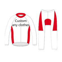 Customized Design Winter Biking Lengthy Sleeve Jersey Bib Lengthy Bike Racing Workforce Highway Biker Biking Sports activities Padded Swimsuit Set
