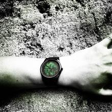 цена на 2019 Enmex design wristwatch 3D leaf vein concept creative design Oil Painting face clock fashion quartz clock watch
