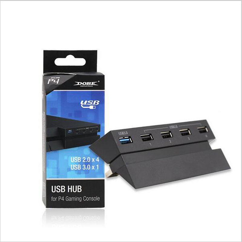 DOBE Original 3.0 2.0 USB HUB 5 Ports Charger Adapter Splitter Expander Extender for Sony PlayStation 4 PS4 Game Host Console