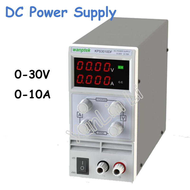 0-30V/0-10A DC Power Supply 110V-230V 0.1V/0.001A LED Digital Adjustable Switch DC Power Voltage Stable mA Display KPS3010DF rps3020d 2 digital dc power adjustable power 30v 20a power supply linear power notebook maintenance