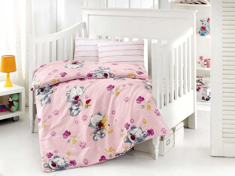 Bedding Set for baby ALTINBASAK, PUFFY, pink bedding set for baby altinbasak puffy cream