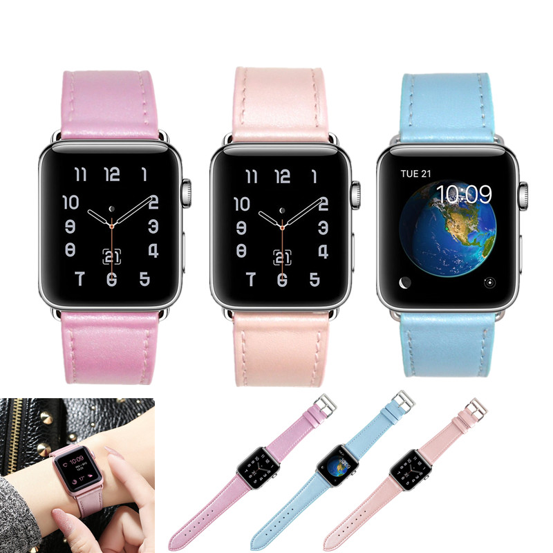 ASHEI Watchband For Apple Watch Band Leather 38mm 42mm Series 3 Series2 Series1 Replacement Strap Bracelet For iWatch Bands 3 ashei fashion flower design strap for apple watch 3 band leather series 2 1 floral printed bracelet 38mm for iwatch bands 42mm