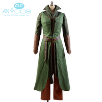 Movie The Hobbit Elf Tauriel Outfit Skirt High Quality Vest Belt For Adult Women Halloween Party Cosplay Costume Free Shipping