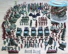 307 Pcs/ensemble WWll Personnages Militaires Soldat Homme Highquality PVC Guerre Militaire costume de Modèle Avions et Réservoirs et Missile Modèle Garçon jouet