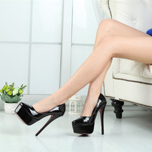 16CM Heel Height Sexy Round Toe Stiletto Heel Pumps Party font b Shoes b font font