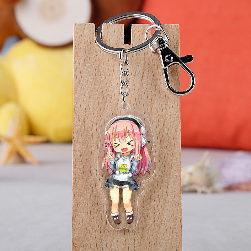 Japanese Anime Super Sonico <font><b>Sexy</b></font> Cartoon <font><b>Figure</b></font> <font><b>Car</b></font> Key Chains Holder Best Friend Graduation Chirstmas Day Gift image