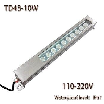 HNTD Led Bảng Điều Chỉnh Ánh Sáng 10 W AC 110 V/220 V Tập Trung Kim Loại LED làm việc ánh sáng không thấm nước IP67 CNC máy công cụ làm việc chiếu sáng TD43