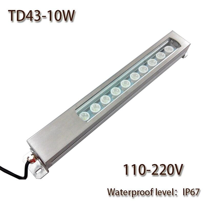 HNTD Led Panel Light 10W AC 110V/220V Concentrating Metal LED work light waterproof IP67 CNC machine work tool lighting TD43