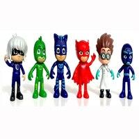 Pj Mask Figure 6pcs Set 8 9cm Pj Masks Characters Catboy Owlette Gekko Cloak Action Figure