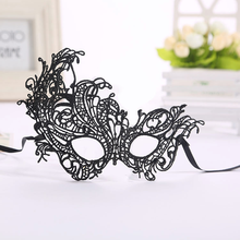 New Sexy Black Lace Mask for Cosplay Floral Lady Masque Cutout Halloween Mask Masquerade Masks Party Fancy Dress Blindfold Masks cutout design patchwork random floral embroidered dress in black