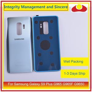 Image 5 - Original Für Samsung Galaxy S9 Plus G965 G965F G9650 SM G965F Gehäuse Batterie Tür Hinten Zurück Glas Abdeckung Fall Chassis Shell