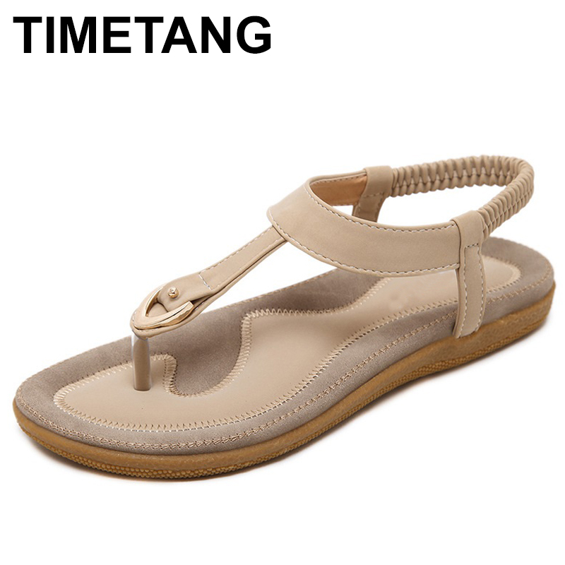 TIMETANG Summer New Women'S Fashion Sandals High Quality Europe And America Bohemia Style Comfortable Ladies Sandals 2018 summer ladies sandals leisure casual and european style slippers in europe and america