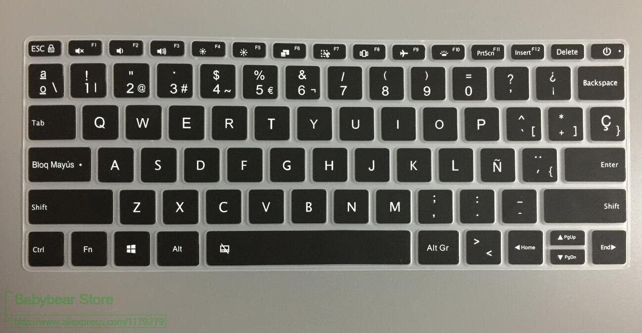 10 Teile/los Spanisch 12 Zoll Silikon Spanisch Wasserdichte Tastatur Abdeckung Für Xiaomi Mi Notebook Air 12,5 Zoll