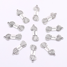 10pcs Knitting Yarn Pendants Charms for Jewelry Making DIY Knitting Wool Charms Pendant for Jewelry Bracelets Necklaces Making стоимость