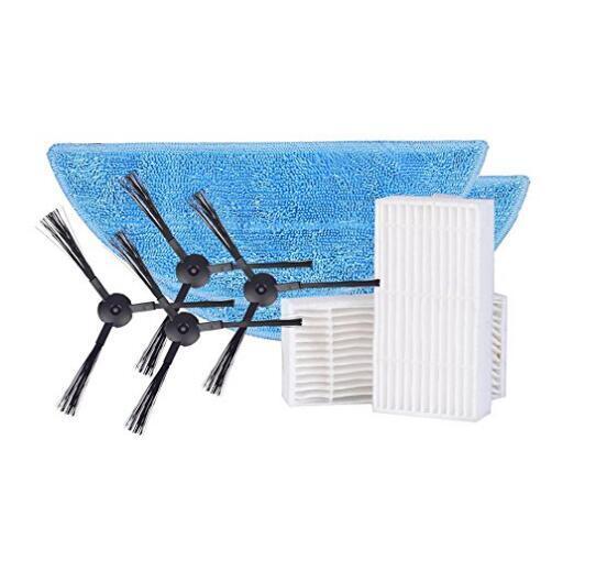 Ilife v55 piezas paquete Cepillo Lateral * 4 pc (2 pares) + mopa * 2 pc + filtro hepa * 2 pc para ilife v55 Robot accesorios de vacío