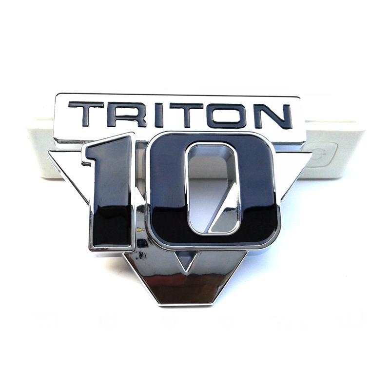 1PC/LOT ABS Free Shipping Triton V10 Emblem Badge Chrome 3d Sticker