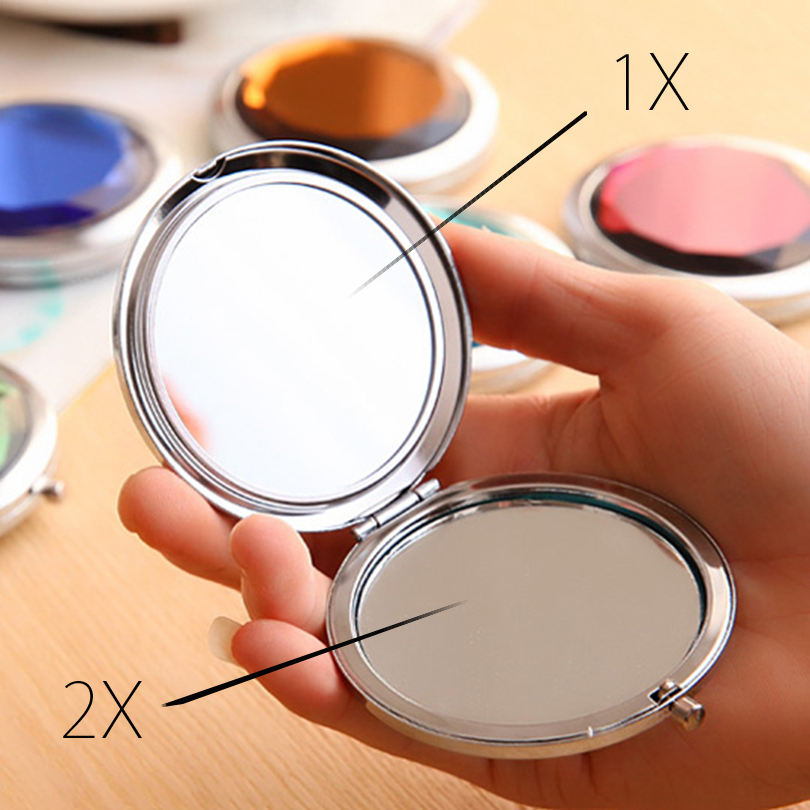 402a1e4fe Brainbow 1 pc De cristal De espejo De maquillaje portátil ronda doblada  espejo compacto De Espelho De Bolso para regalo De boda en Espejos de  maquillaje de ...