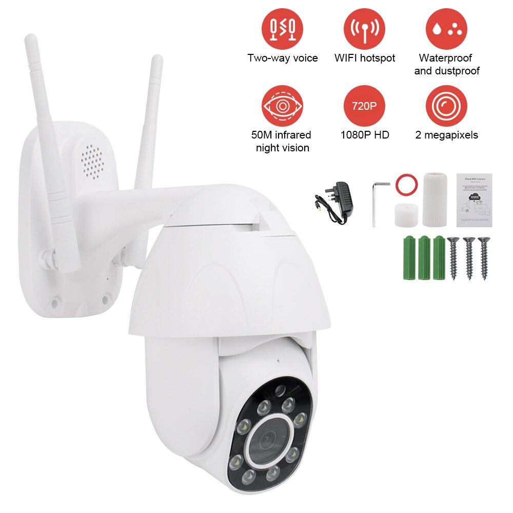 Caméra IP PTZ extérieure caméra IP H.265X 1080 p dôme de vitesse caméras de sécurité CCTV caméra IP WIFI extérieur 2MP IR surveillance à domicile