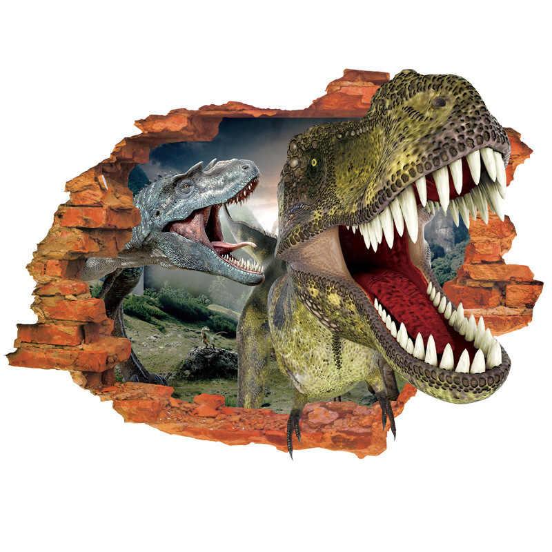 Динозавр вечерние 3D наклейки на стену украшения на день рождения Дети Акула День Рождения Вечеринка Единорог День Рождения Вечеринка История игрушек