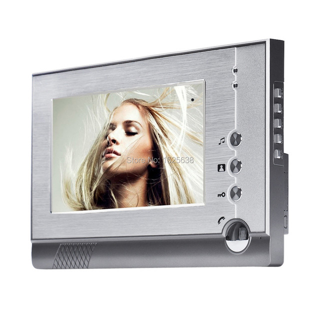 free fast shipping 7 Wired Video Door Phone Doorbell Intercom System indoor machine monitor with High resolution digital screen
