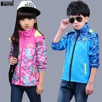 Famli Kids Windbreaker Jackets Spring Autumn Children Girl Casual Hooded Waterproof Coat Unisex Kid Boy Outdoor