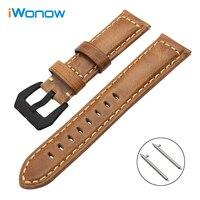 Italy Genuine Oil Leather Watchband For Huawei Watch 2 Classic Garmin Fenix Chronos Ticwatch 1 Quick