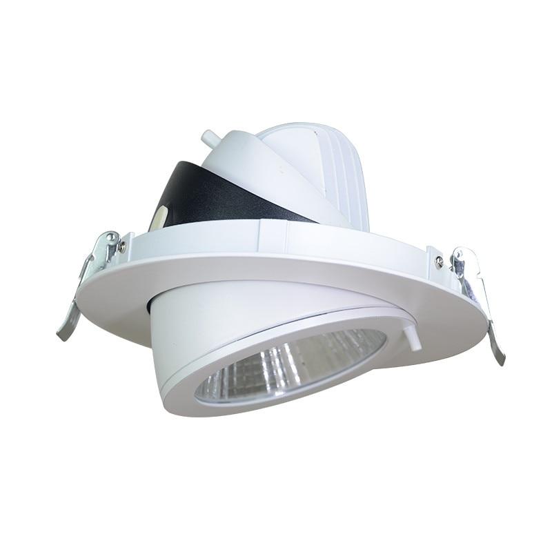 10 Вт/20 Вт/30 Вт/40 Вт светодиодный магистрали светильники удара потолка AC85-265V регулируемый встраиваемые супер яркий свет в помещении УДАРА све...