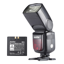 Godox V860II-N i-TTL 1/8000S HSS Master Slave GN60 Flash Light 2.4G Wireless Li-ion Battery Speedlite for Nikon DSLR Camera godox v350n mini flash ttl hss 1 8000s 2 4g x system built in 2000mah li ion battery camera speedlite flash for nikon camera