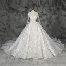 2019 nieuwe ontwerp bling baljurk trouwjurk luxe Champagne en Ivoor wedding factorycustom gemaakt groothandel prijs bridal dress