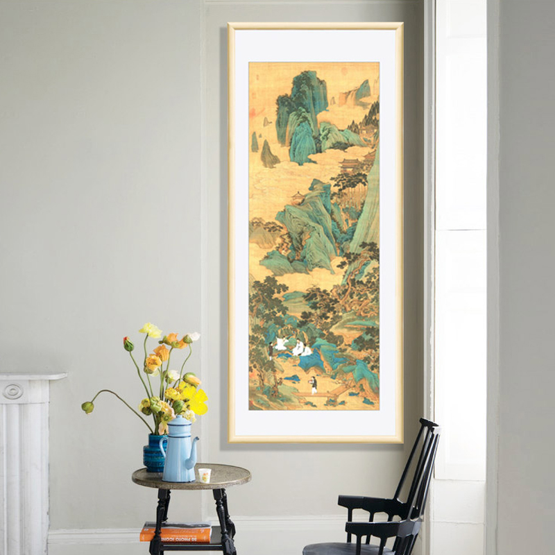 Traditional Study Room: Chinese Traditional Calligraphy And Painting Living Room