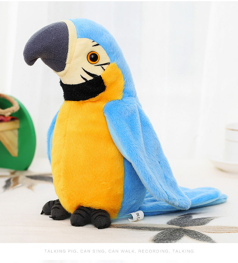 New Electronic Pets Talking Parrot Toys Funny Sound Record Plush Parrot Christmas Gift For Kids Children