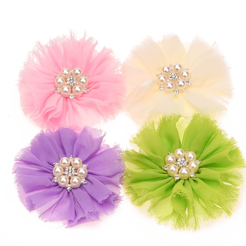 6PCS Hair Accessories Hair Flower Frayed Flowers Rhinestone Flower  Artificial Flowers DIY Headwear Accessory No Hair Clips-in Hair Accessories  from Mother ... 5f606e9900b1