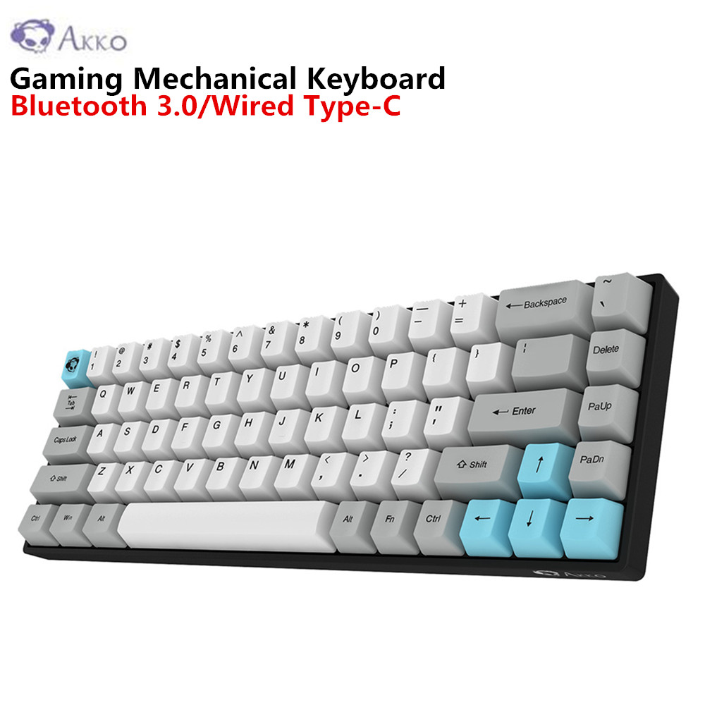 akko 3068 gaming mechanical keyboard wireless bluetooth 3 0 wired type c conection cherry switch. Black Bedroom Furniture Sets. Home Design Ideas