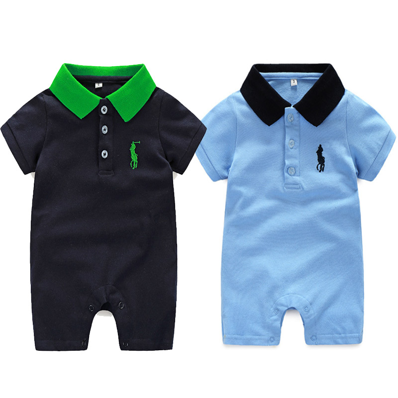 Summer Baby boys Clothes Baby Boy Short Sleeved   Romper   For Newborn Infant Kids Clothes 0-24 Baby   Rompers   Bebe Clothing