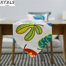 XYZLS American Pastoral Colorful Leaves Double Layers Table Runners Tablecloths Cover for Home Wedding Hotel Cafe Decoration(China)