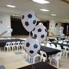 100pcs/lot 12inch Thicken Soccer Balloon White Color Kids Toys