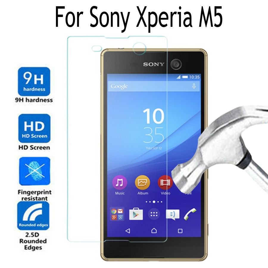 For Sony Xperia M5 Tempered Glass Screen Protector Cover For Sony Xperia M 5 9H Premium Protective Film For Sony Xperia M5 Glass-in Phone Screen ...