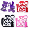 7PCS Set Handcuffs Nipple Clamps Whip Collar Adult Game Toy Leather Fetish Bondage Restraint Wedding Party