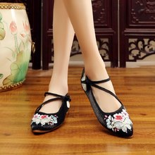 Women Cool Comfortable Retro Chinese Traditional Embroidery Cloth Shoes
