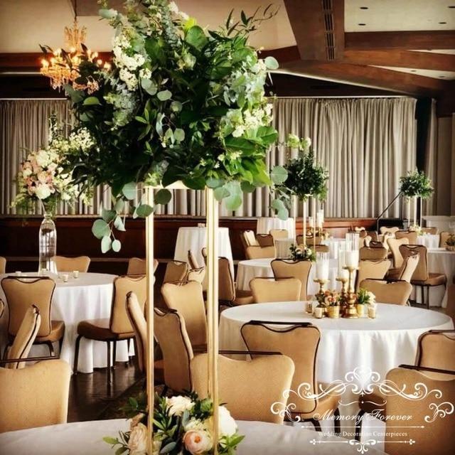 2018 New Style Metal Flower Vase Luxury Flower Stand Flower Column