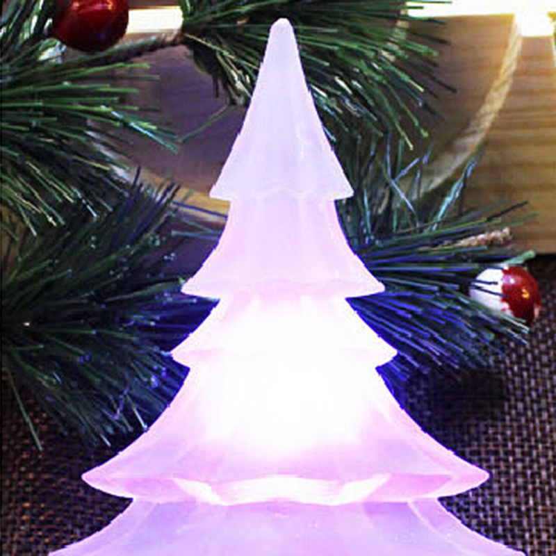 5PCS Christmas Tree LED Light Color Glow Change Suction Christmas Holiday Decorating Night light Gift For Home