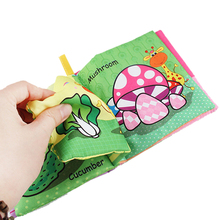 English Cognition Newborn Baby Toys Learn Early Educational Kids Cloth Books can be washed Cute Infant Fabric Book Baby Rattles недорого